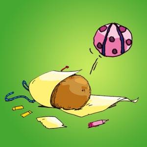 Kartoffelball - kostenlose Bastelideen für Kinder