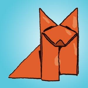 Fuchs aus Papier - kostenlose Bastelideen für Kinder
