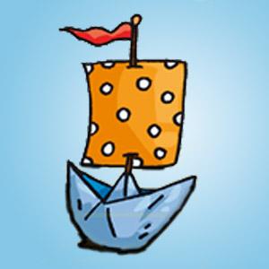 Papierschiff - kostenlose Bastelideen für Kinder