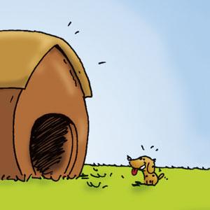 Herr Hermann und seine Hundehütte - Linus-Comic