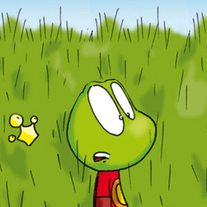 Linus vor hochgewachsenem Rasen - Linus-Comic