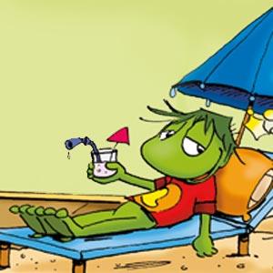 Linus auf dem Liegestuhl - Linus-Comic