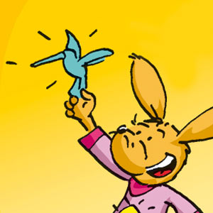Taffi mit einen Kolibri aus Papier - Linus-Comic