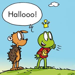Linus und Gustafson auf einem Hügel - Linus-Comic