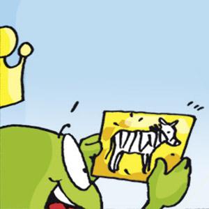 Linus mit Postkarte - Linus-Comic