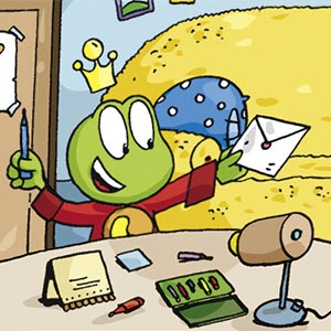 Linus am Schreibtisch - Linus-Comic
