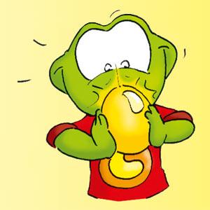 Linus mit goldenem Ei - Linus-Comic