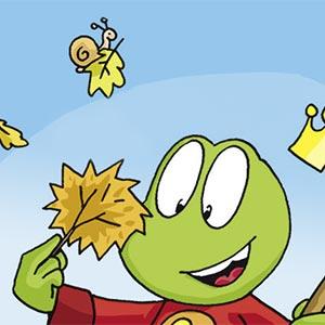 Linus mit Blatt - Linus-Comic