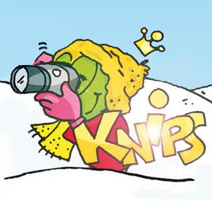 Linus mit Kamera im Schnee - Linus-Comic