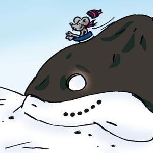 Schneehaufen - Linus-Comic