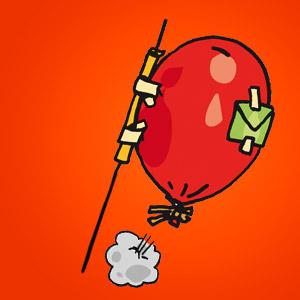 Luftballonrakete - Experiment für Kinder