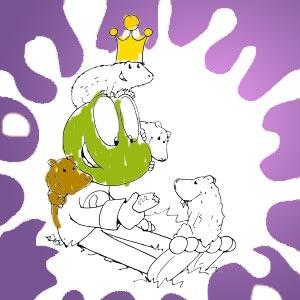 Linus mit Meerschweinchen - kostenlose Ausmalbilder für Kinder
