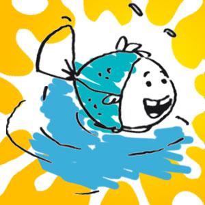 Fisch im Wasser - kostenlose Ausmalbilder für Kinder
