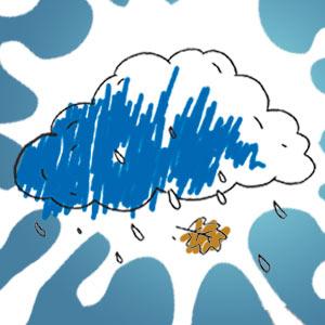 Regenwolke - kostenlose Ausmalbilder für Kinder