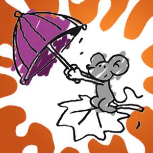 Mausle mit Regenschirm - kostenlose Ausmalbilder für Kinder