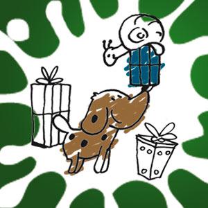 Herr Hermann mit Geschenken - kostenlose Ausmalbilder für Kinder