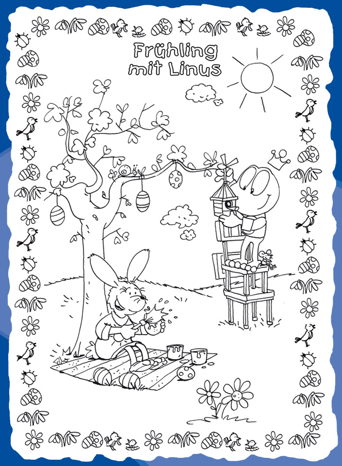 frühling mit linus  kindermagazin mit kostenlosen rätseln