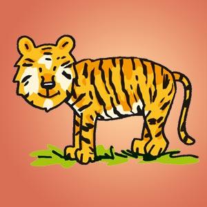 Tiger - kostenloser Zeichen-Trick für Kinder
