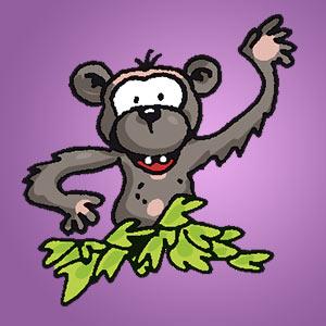 Affe - kostenloser Zeichen-Trick für Kinder