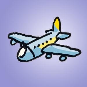 Flugzeug - Rätsel für Kinder - Bildpaare