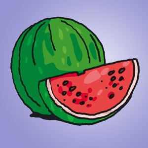 Melone - kostenlose Rätsel für Kinder - Kuddelmuddel