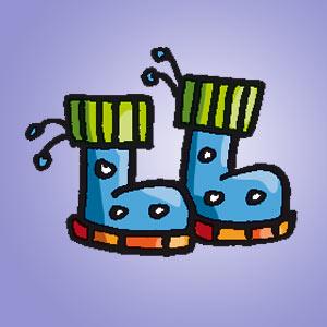 Gummistiefel - kostenlose Rätsel für Kinder - Aus zwei mach eins