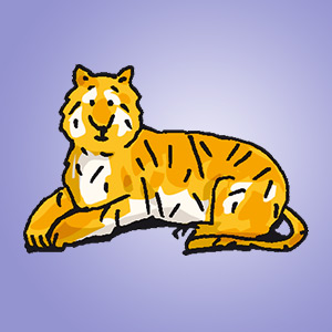 Tiger - Rätsel für Kinder - Bildpaare