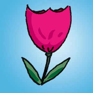 Tulpe - Rätsel für Kinder - Buchstabensalat
