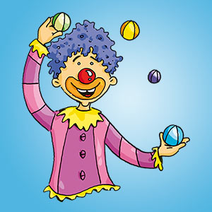 Clown - Rätsel für Kinder - Buchstabensalat