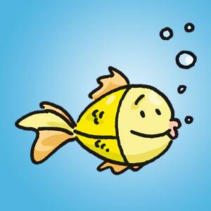 Fisch - Rätsel für Kinder - Buchstabensalat