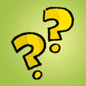 Zwei Fragezeichen - Rätsel für Kinder - Denkaufgabe