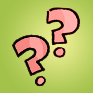 zwei Fragezeichen - Kinderrätsel - Denkaufgabe
