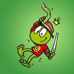 Linus an einer Liane - Rätsel für Kinder - Fadenrätsel