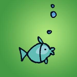 Blauer Fisch - Rätsel für Kinder - Fadenrätsel