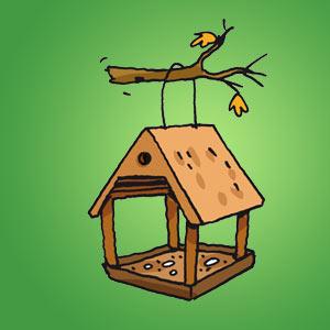 Vogelhäluschen - Rätsel für Kinder - Labyrinth