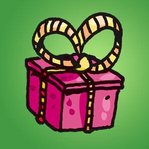 Geschenk - Rätsel für Kinder - Labyrinth