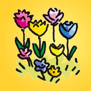 Blumen - Rätsel für Kinder - Rebus