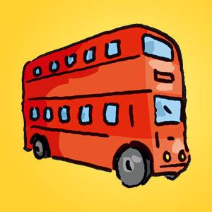 Bus - Rätsel für Kinder - Rebus