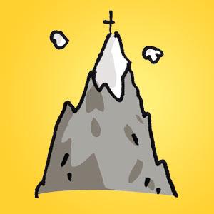 Bergspitze - Rätsel für Kinder - Rebus