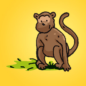 Affe - Rätsel für Kinder - Rebus