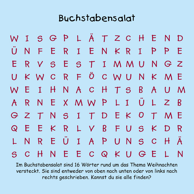 buchstabensalat 4 12 kindermagazin mit kostenlosen. Black Bedroom Furniture Sets. Home Design Ideas
