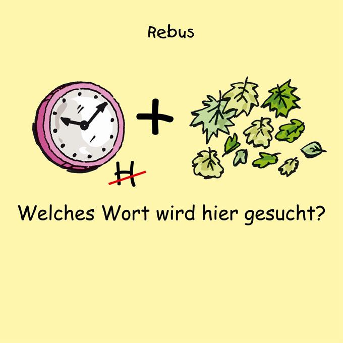 Rebus 2-11 - Uhr   Kindermagazin mit kostenlosen Rätseln, Spielen ...