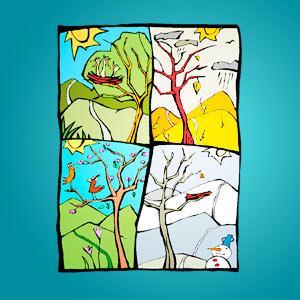 Interaktives Minispiel für Kinder - Fehlersuche Jahreszeiten