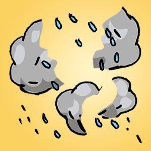 Interaktives Minispiel für Kinder - Schnipselrätsel Regenwettertage