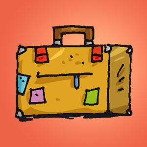 Interaktives Minispiel für Kinder - Koffer