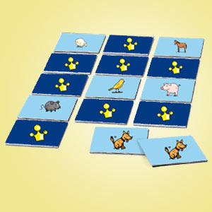 Interaktives Minispiel für Kinder - Memospiel Haustiere