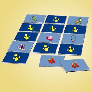 Interaktives Minispiel für Kinder - Memospiel Kleidung