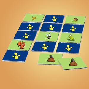 Interaktives Minispiel für Kinder - Memospiel Heimische Tiere