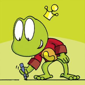 Linus mit Zeichenstift - Comic-Strip - kostenlos