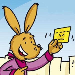 Taffi mit Brief - Comic-Strip - kostenlos